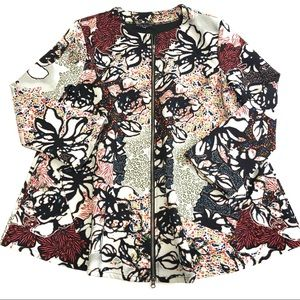 Bryn Walker Colorful Floral Jacket Coat